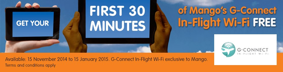 Mango G – Connect In-Flight Wi-Fi FREE Promotion